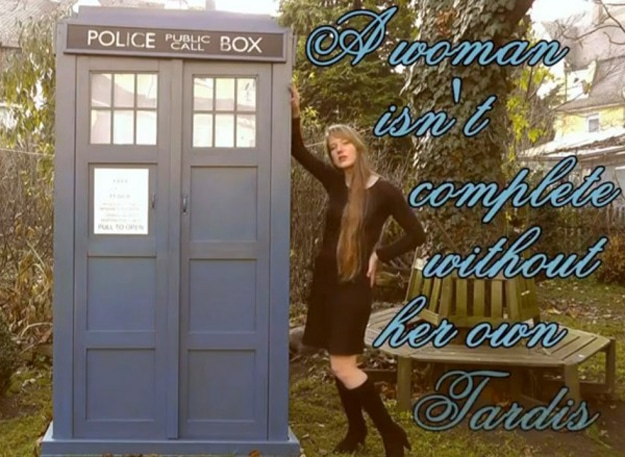 DIY TARDIS: Because Every Woman Needs Her Own TARDIS