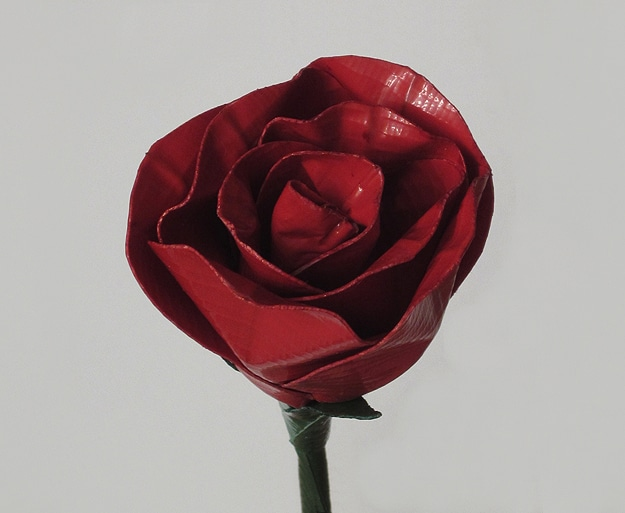 Red Roses Made From Tape