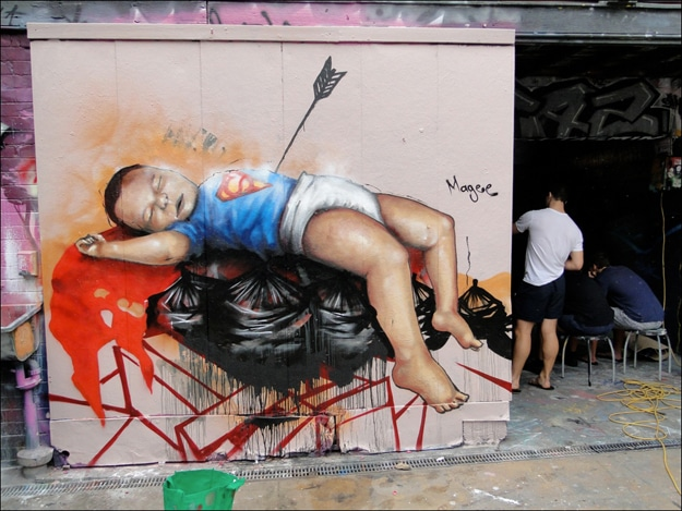 Superman Baby Street Art
