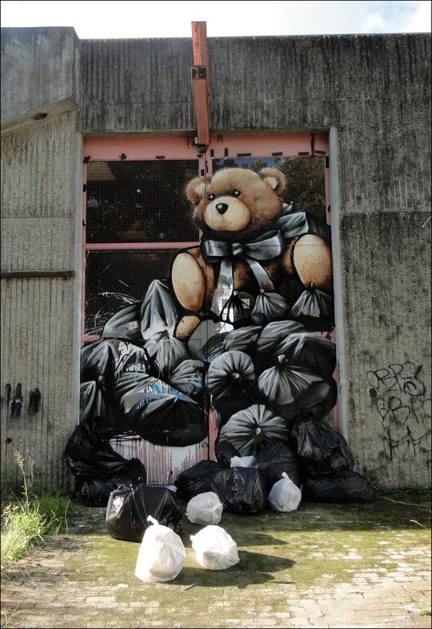 Garbage Trash Bags Street Art