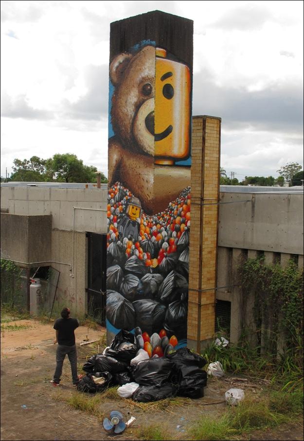 Trash Garbage Bags Street Art