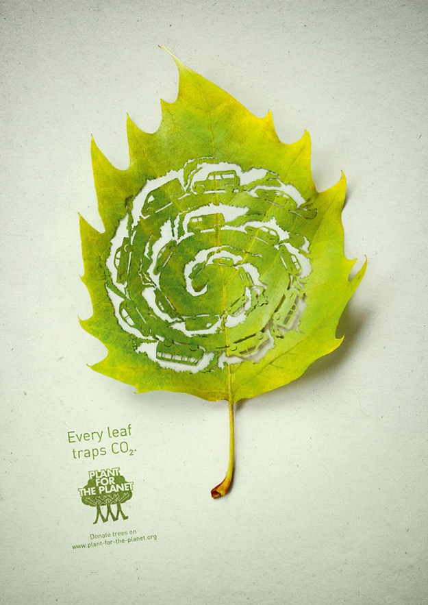 Environment Carved In A Leaf