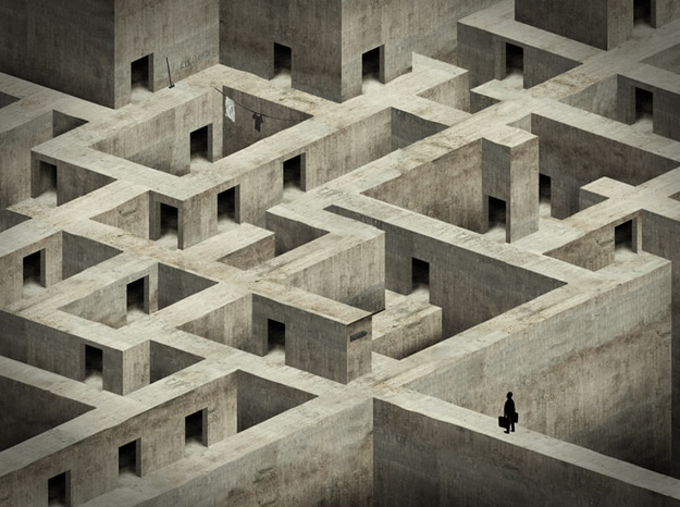 Maze Made Out of Cement