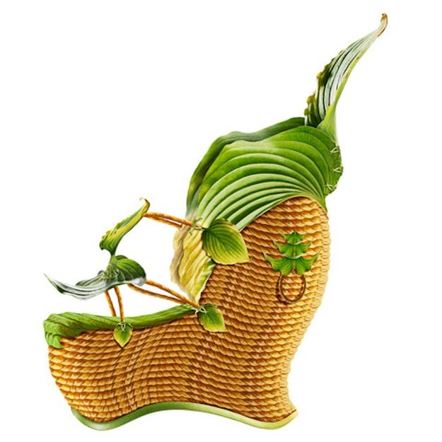 High-Heeled-Green-Botanical-Shoe