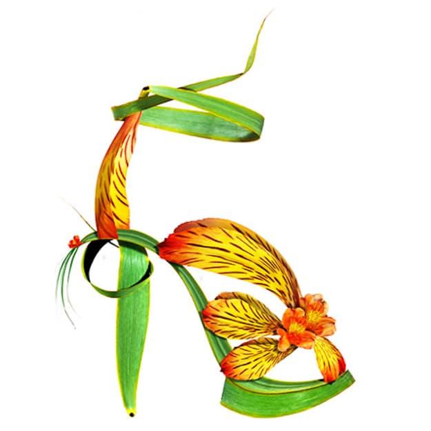 Yellow-Orange-Flower-Botanical-Shoe