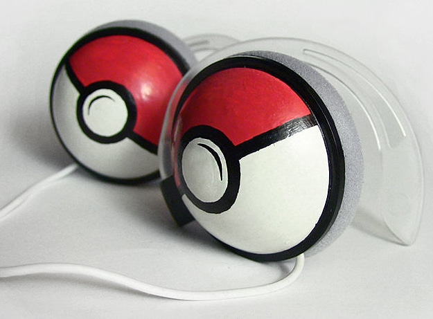 Pokeball Headphones: The Retro Geek Way To Rock Out
