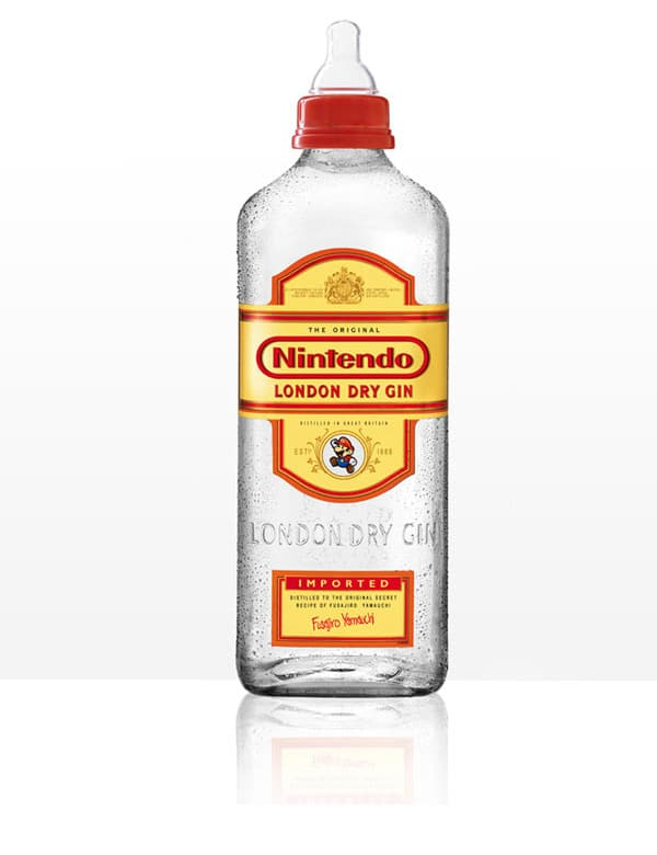 Nintendo London Gin Alcohol