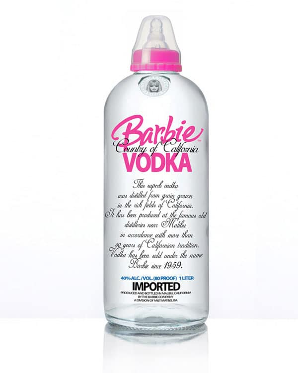 Barbie Vodka Alcohol Bottle Design