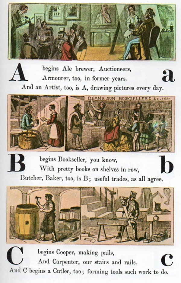 Occupational Alphabet: The ABCs Of Popular Professions In 1850