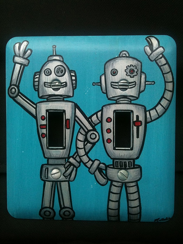 Handpainted Robot Home Decor