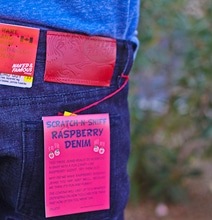 Delicious Style: Raspberry Scratch-N-Sniff Jeans For Men