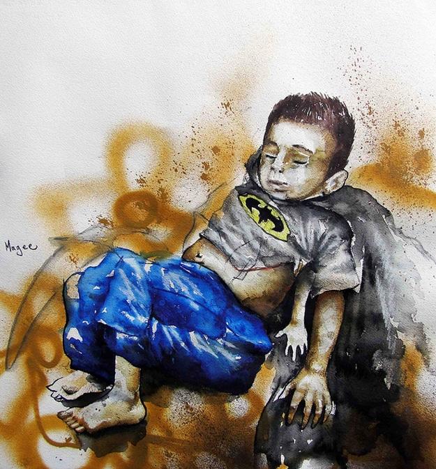 Fintan Magee Superhero Graffiti