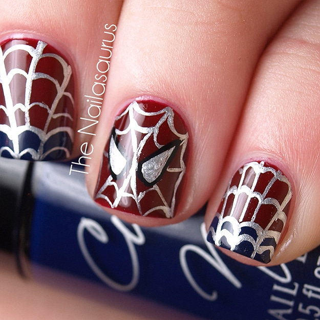 DIY Spider-Man Manicure: Even Spidey Will Be Impressed