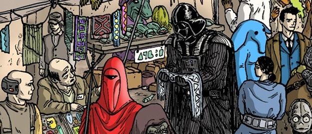 Puzzle Inside Star Wars Illustration