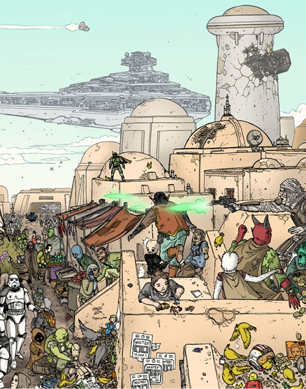 Puzzle In Star Wars Illustration