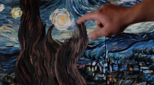 Famous Painting Touchscreen Animation