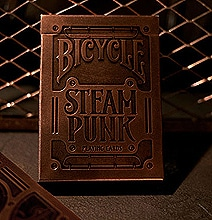 steampunk victorian playing cards