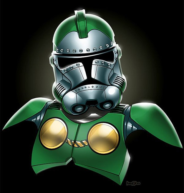 Green Colorful Star Wars Stormtrooper