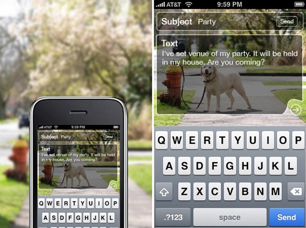 Walk Text On iPhone