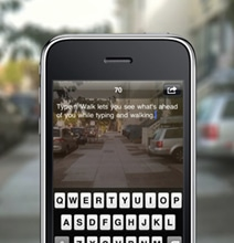 Type-N-Walk App For Clumsy People: Text & Tweet While Walking