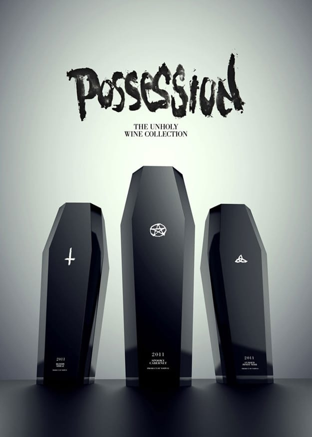 3 Devilishly Unholy Wine Bottle Designs