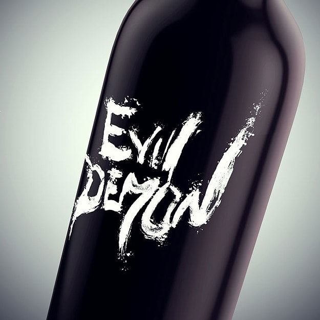 Devil Wine Bottle Evil Demon
