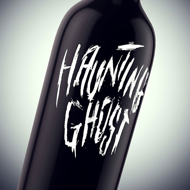 Haunting Ghost Wine Bottles