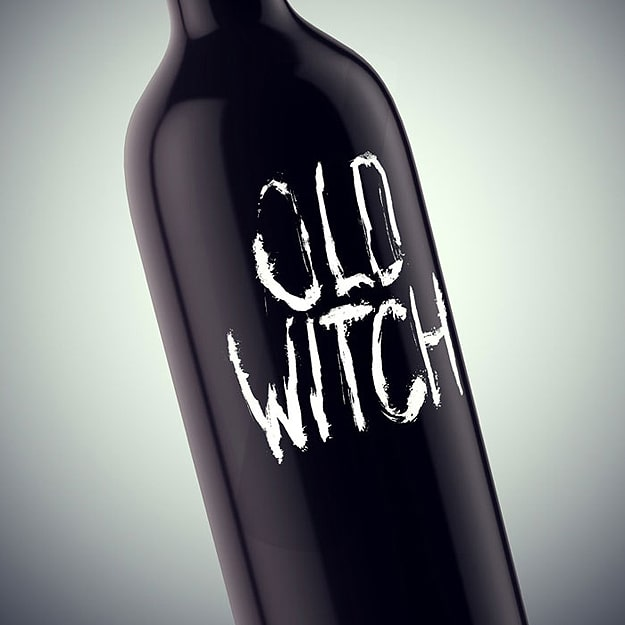 Old Witch Haunted Wine Bottles