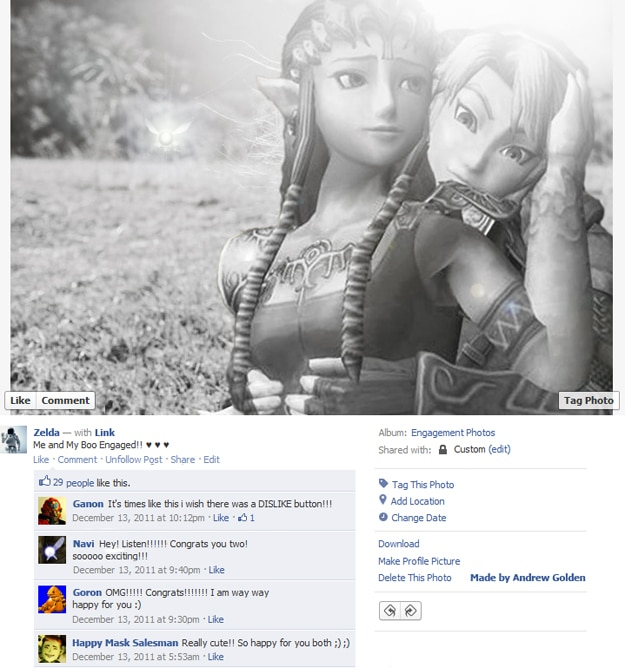 Zelda Fake Facebook Photos
