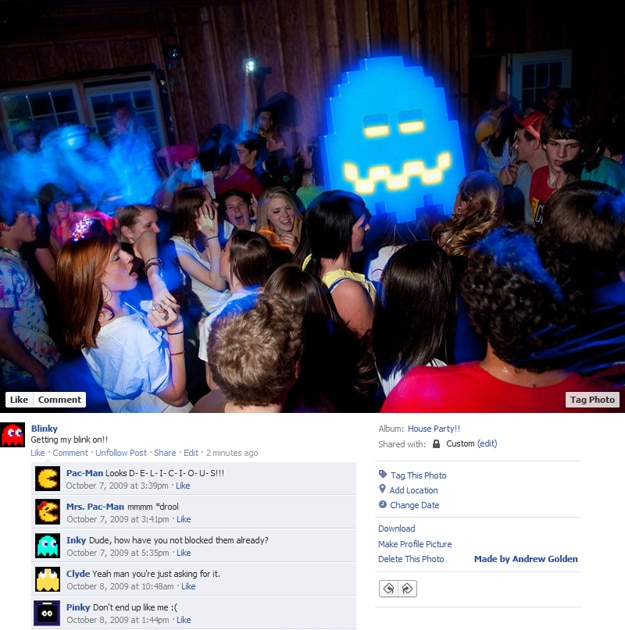 PacMan Fake Facebook Photos