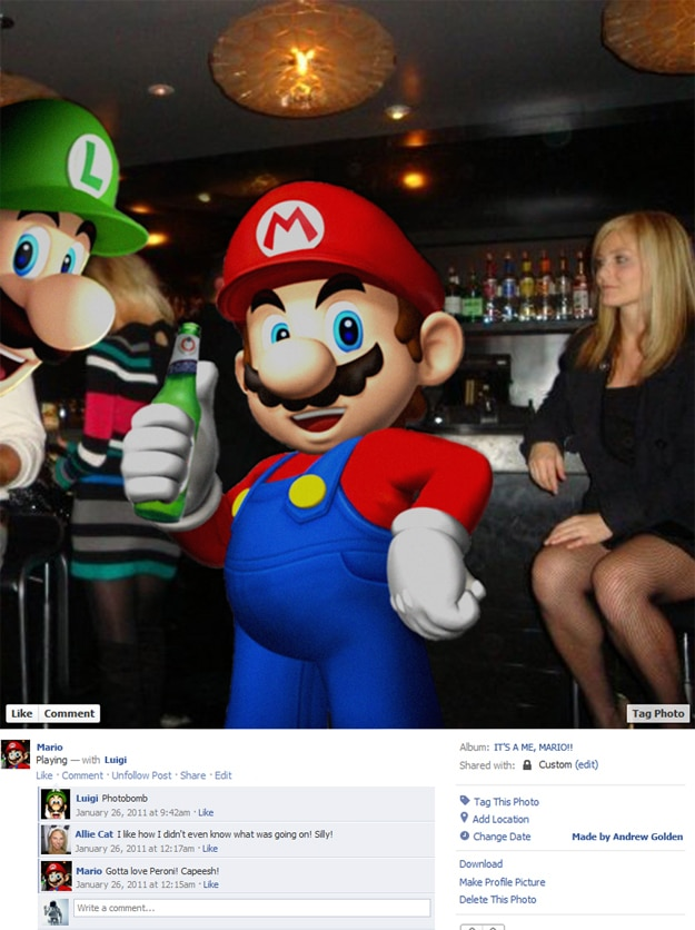 Super Mario Luigi Fake Facebook