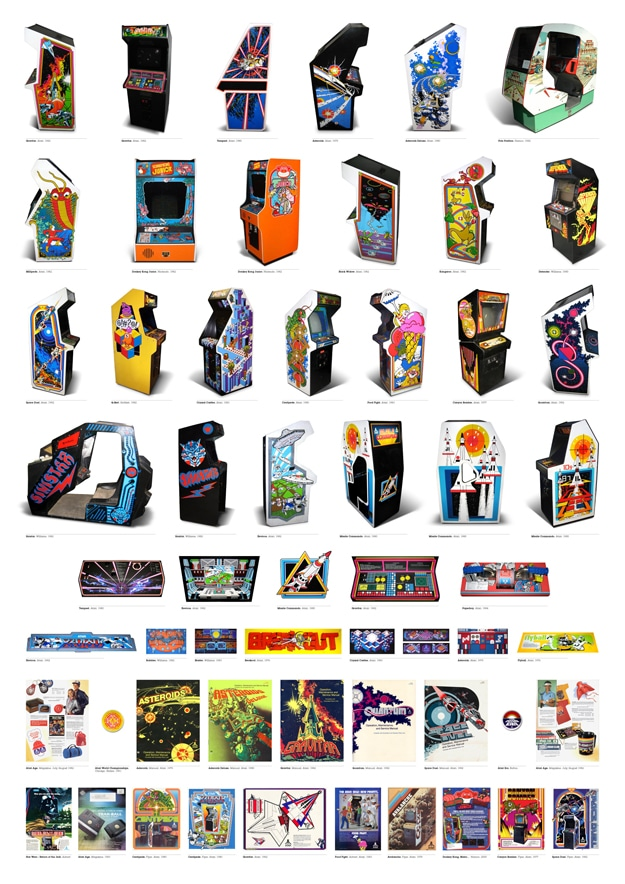 Arcade Art: Massive Vintage Video Game Chart