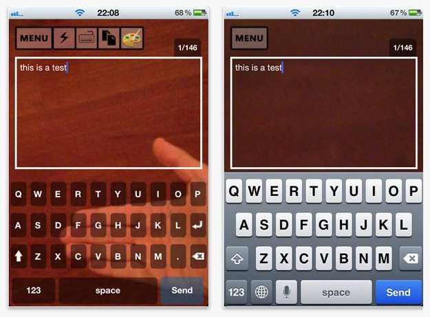 iPhone Walking Texting App
