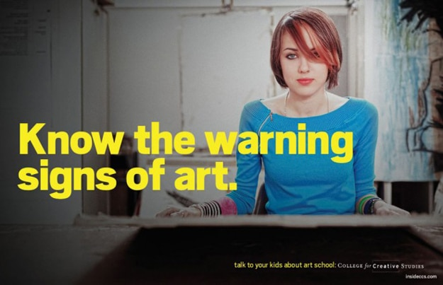 Know The Warning Signs Of Art [Humor]