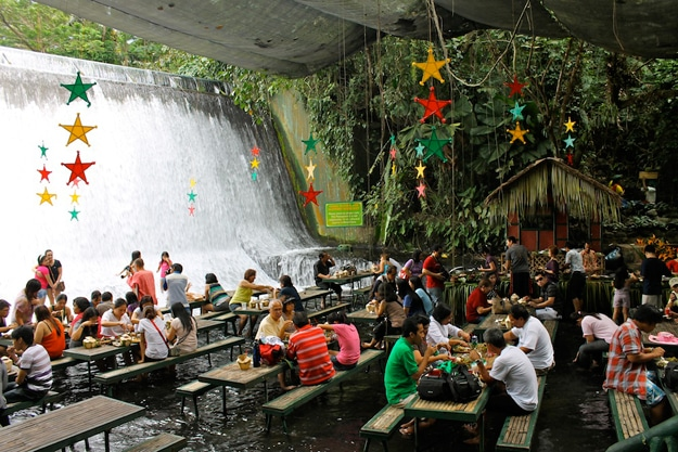 Restaurant At Base Of Waterfall