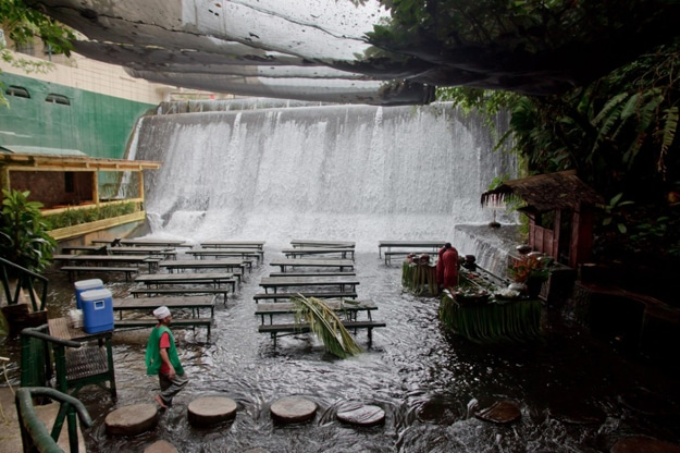 Restaurant At Base Of Waterfall