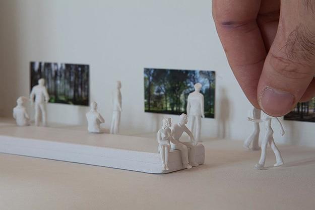 Tiny Plastic People Installation