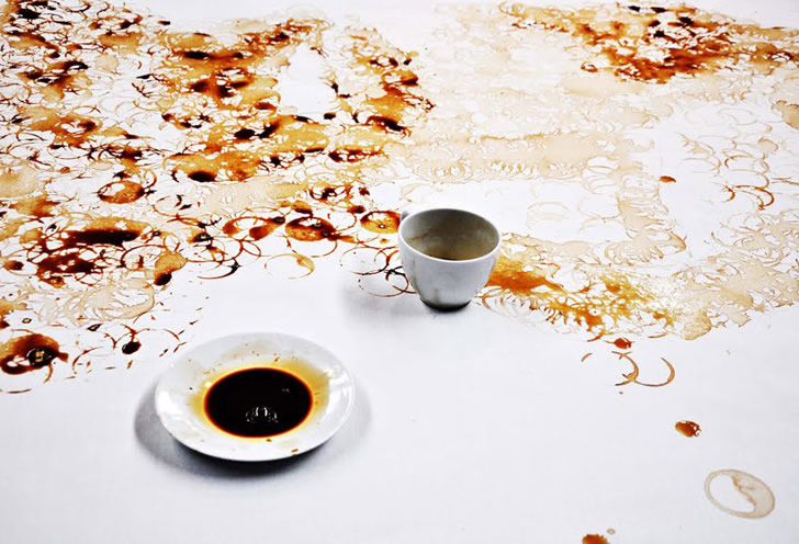 Incredible Coffee Spill Portrait