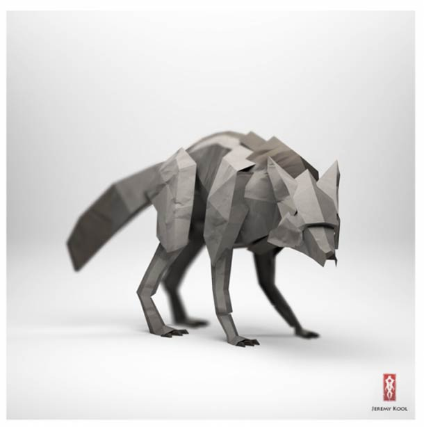 digital-paper-origami-animal-artwork