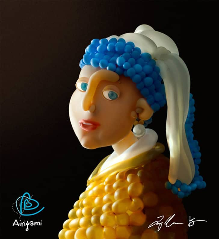 Fine Art Created Out Of Balloons