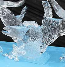 Iceman Creates Seriously Cool Ice Sculptures