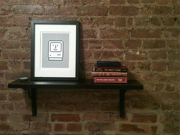 brick shelf book coffee table