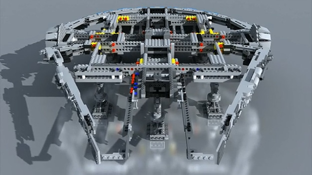 Amazing Stop Motion Assembly Of A Lego Millennium Falcon