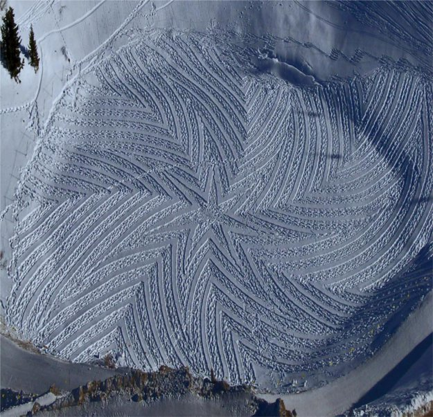 4 Snowy Crop Circles: Extraordinary Winter Art