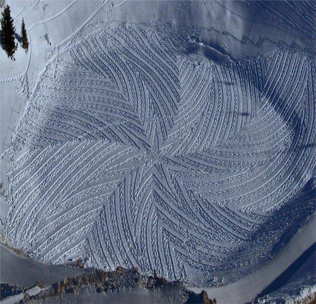 4 Snowy Crop Circles: Extraordinary Winter Art