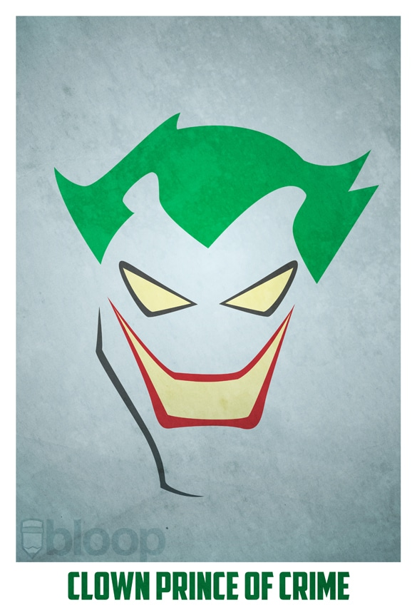 Minimalistic Superhero Portrait Illustrations