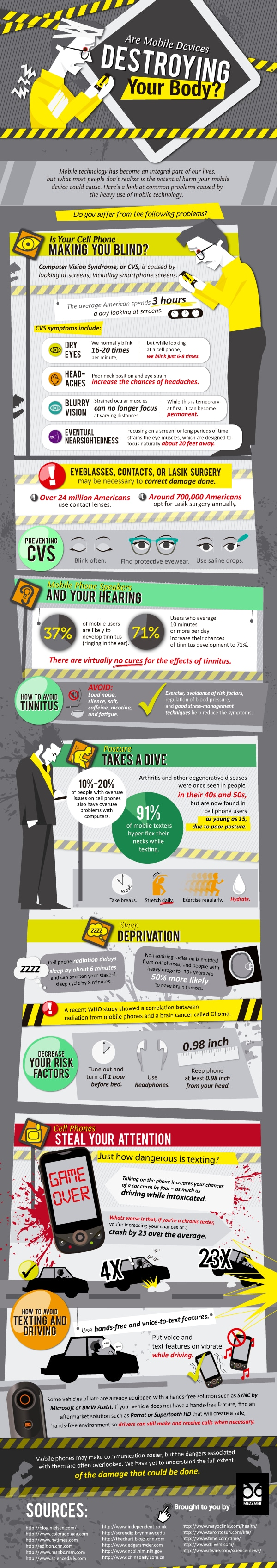 How Mobile Devices Are Destroying Your Body [Infographic]