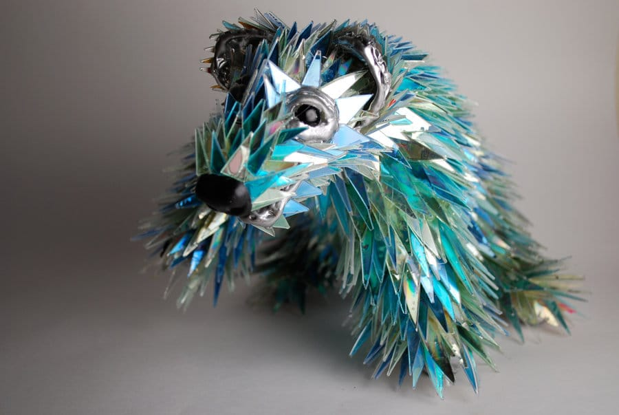 shattered-cd-animal-scultures