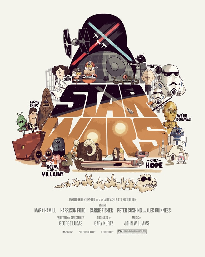 Fan Created Star Wars Trilogy Posters Put The Geek Back In Them