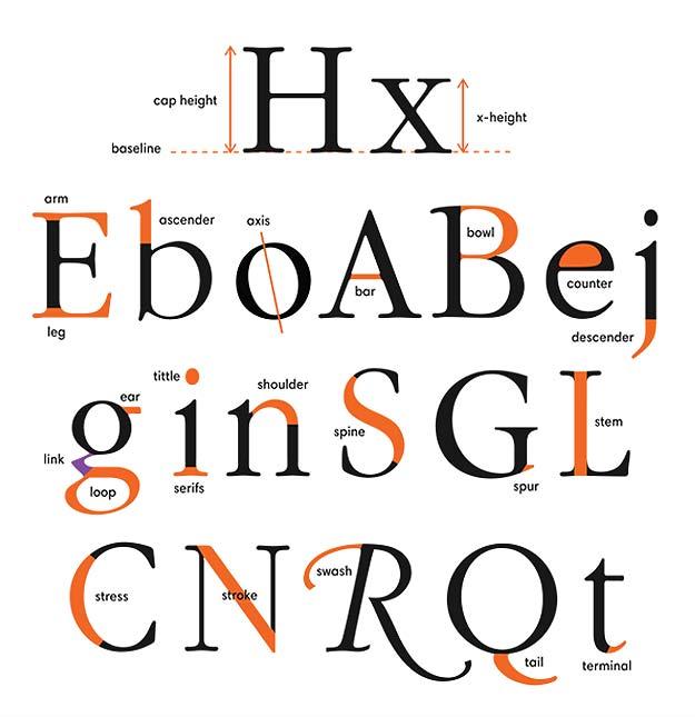 alphabet letters define shapes